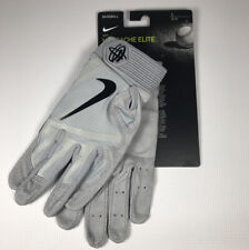 Men's Nike Huarache Elite Batting Glove Light Gray L New