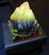 Crystal Paperweight Rainbow Pyramid Glass Mountain Matterhorn Ornament Gift Ice