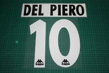 Juventus 96/97 #10 DEL PIERO Homekit Nameset Printing