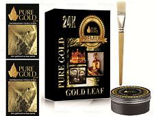 Gold leaf Kit - 24ct Gold sheets and brush. Gilding, Art, Design
