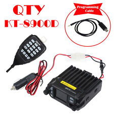 QYT 8900D Dual Band VHF UHF 25W 4-Standy Mobile Radios MIC+USB Programming Cable