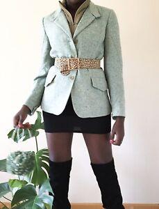Montedoro Ladies Green Blazer with body warmer /gilet uk size 10 vintage style