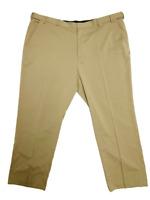 Van Heusen Men 50W x 32L Khaki Pants Traveler Big Tall Stretch Premium FREE SHIP