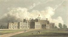 1828 Antique Small Georgian Print ~ Eaton Hall ~ Cheshire Art