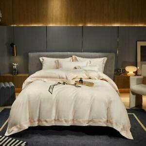 bedding set 4 pcs Pure cotton embroidery quilt cover flat sheet 2 pillow shames