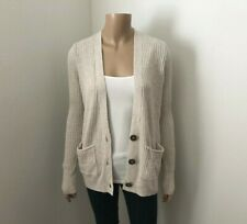 NWT Hollister Womens Knit Cardigan Size Small Sweater Beige