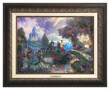 CINDERELLA - Disney - Thomas Kinkade Canvas Classic (Aged Bronze Frame)