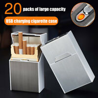 USB Cigarette Lighters Lighter Case Box Electronic Flameless Rechargeable health