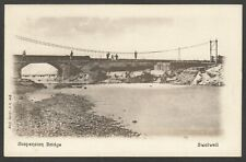 Postcard Swalwell in Gateshead Tyne and Wear early view of the Suspension Bridge