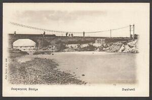 Postcard Swalwell in Gateshead Tyne and Wear early view of the Suspension Bridge