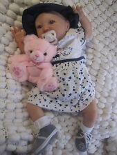 REBORN BABY DOLL CHILD'S SUNBEAMBABIES VINYL AMAZING EYES  (DRESSED SIMILAR)