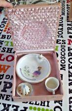 Ancien Coffret Service à Bouillie Bébé Assiette tasse presse citron Porcelaine