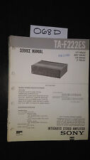 Sony TA-F222ES Service Manual original factory repair book stereo amp amplifier