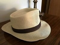 Estate Vintage 1950s Monaco Waterproof Men's Straw Hat Panama Fedora   H-2