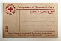 Lot of 2 - 1916  WW1 Prisoner of War Postcard & Red cross post card - c-671