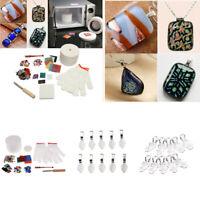 30 Pieces Microwave Kiln Kit For Fusing Glass Kiln DIY Fusing Glass Pendent