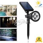 Lots 4 LED Solar Power Light Outdoor Garden Lamp Landscape Path Lawn Spotlight