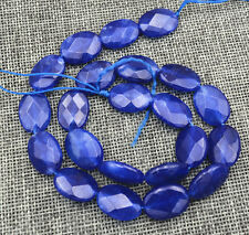 13x18mm Faceted Blue Sapphire Gem Oval Loose Bead 15 ''