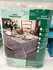 """Vintage Lace Tablecloth Oblong 65 """"x 102�-New Old Stock In Package """"Diana"""" Usa"""