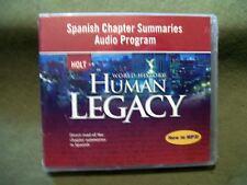Holt World History Human Legacy Spanish Chapter Summaries Audio Program CD