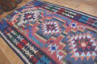90 Handgewebter VINTAGE Teppich KURDISTAN NOMADEN KILIM KELIM B-WARE 240 x 137