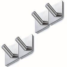 Wall Door Hook Bathroom Kitchen Wardrobe 4Pcs Heavy Duty Stainless Steel