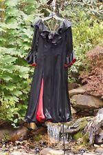 $1250 Latin (Tango, Salsa, Cha Cha) Ballroom Dance Gown Black Satin w/Red Lining