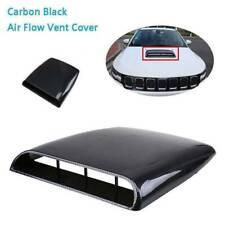 Universal Car Truck Air Flow Intake Scoop Vent Cover Carbon Fiber Look Bezel
