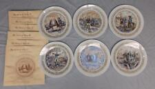 Complete set of 6 Limoges Lafayette Legacy Series Collector Plates, Mib, Coa
