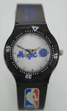 NBA Orlando Magic Logo Men's Black Resin Plastic Easy Read Quartz Battery Watch
