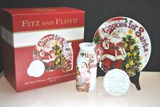 NIB FITZ & FLOYD OLD WORLD CHRISTMAS MILK & COOKIES FOR SANTA WITH COOKIE PRESS