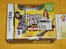 GUITAR HERO ON TOUR DECADES BOX + GUITAR GRIP NUOVO NINTENDO DS NO DSi NO 3DS