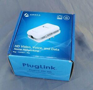 (1 PC) Asoka PL9671-A2 PlugLink-ETH-500 Mbps HomePlug Powerline Ethernet Adapter