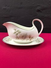 Royal Doulton Yorkshire Rose H5050 Gravy Boat  / Sauce Jug and Stand Saucer