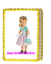 Maryellen American Girl Doll Party Birthday Edible Cake Topper 1/4 icing sheet