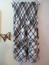 Abercrombie & Fitch - Browns & White Pattern Strapless Smocked Dress  -  Size M