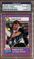 Andre Agassi signed autographed 1993 Sports Illustrated SI for Kids card PSA/DNA