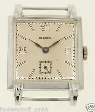 RECORD ART DECO ARMBANDUHR - 1930er / 1940er JAHRE - NEW OLD STOCK UNGETRAGEN