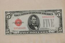 1928 C  $5 Federal  Reserve  Note Red Seal  Free Shipping