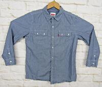 Levis Western Style Womens Button Shirt Sz Medium Striped Rockability