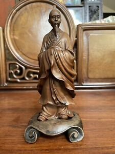 Chinese Antique HuangYang Wood Figurine Qing China Asian