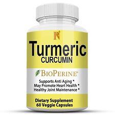 Pure Nutrition Plus Turmeric Curcumin with Bioperine 60 Pills Capsules 1950 mg