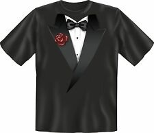 Fun T-Shirt Tuxedo Bow Tie Carnival Party Shirt Gift Cool Printed