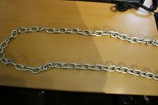 2 meter length steel chain ZP plates 6mm short link