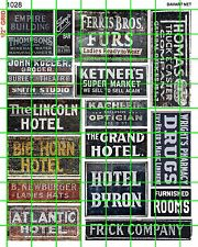 1028 DAVE'S DECALS 1:87 GHOST SIGNS HOTEL MARKET DR ROOMS VINTAGE OLD SIGNS MIX