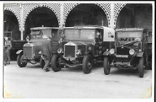 Vulcan, Albion & another Commercial Lorries at Rally, Postcard Size B/W Photo