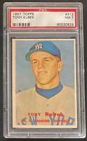 1957 Topps Tony Kubek RC PSA 7 NM #312. New York Yankees Baseball Rookie Card