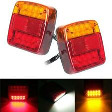 2pcs LED Car Trailer Truck Tail Light Brake Stop Turn Signal Lamp Universal