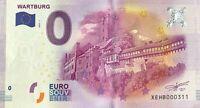 BILLET 0 EURO WARTBURG ALLEMAGNE 2016-1   NUMERO DIVERS
