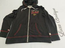 NHL NWT $80 CCM Vintage Apparel Chicago Blackhawks Womens Large Zippered...